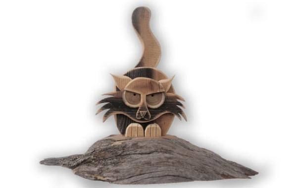 ANTIQUE WOODEN CATS