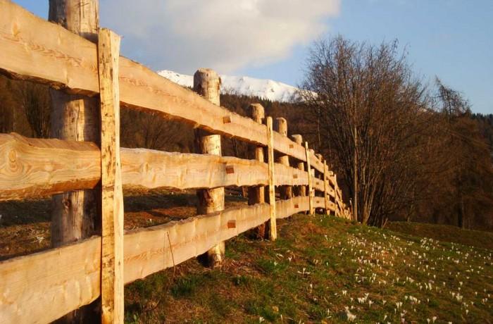 Recinzioni in legno artigianato trentino barbel art - Palizzate in legno per giardino ...
